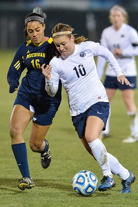 Christine Nairn showed her versatility when she switched to left back during overtime of the Nittany Lions' Sweet 16 win over Michigan.