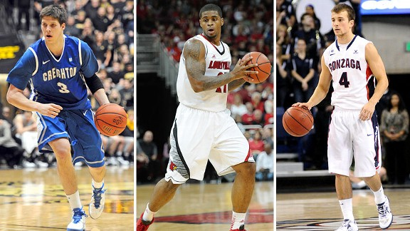 Doug McDermott, Chane Behanan and Kevin Pangos