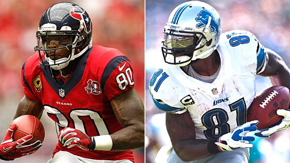 Andre Johnson and Calvin Johnson