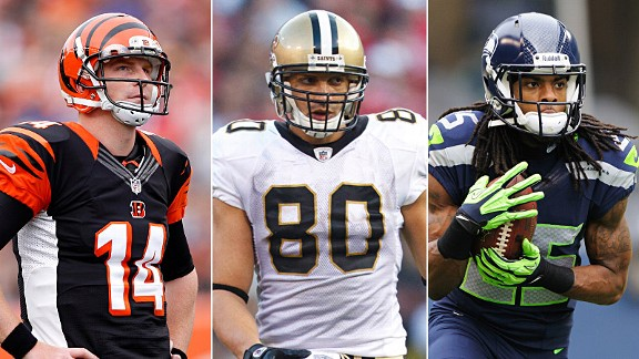 Andy Dalton, Jimmy Graham, Richard Sherman