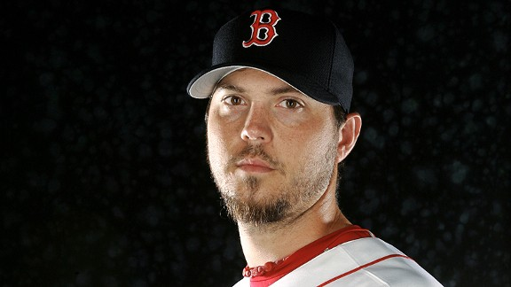 Josh Beckett with the Boston Red Sox