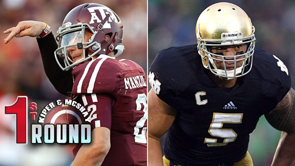 Johnny Manziel and Manti Te'o
