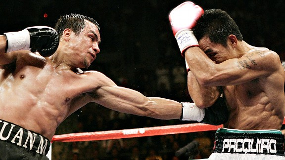 Pacquiao won a split decision in their 2008 rematch, although our experts all scored it for Marquez.