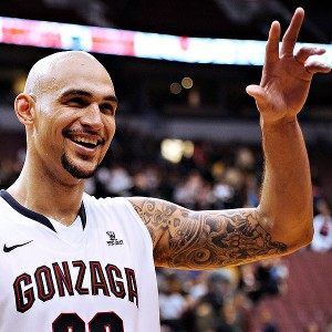 Robert Sacre with the Gonzaga Bulldogs in Vancouver, B.C.