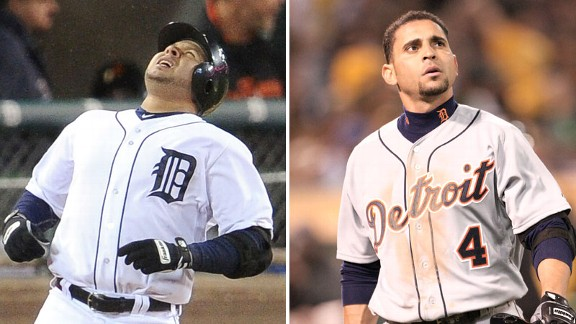 Jhonny Peralta and Omar Infante