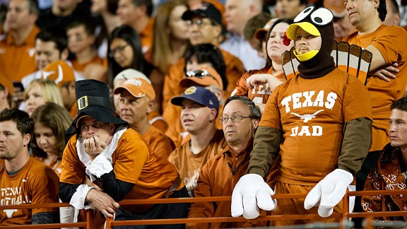 Texas fans during the Longhorns' loss to the TCU Horned Frogs