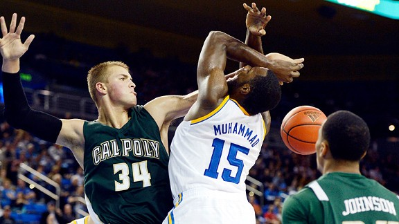 Shabazz Muhammad during his UCLA Bruins' loss to the Cal Poly Mustangs