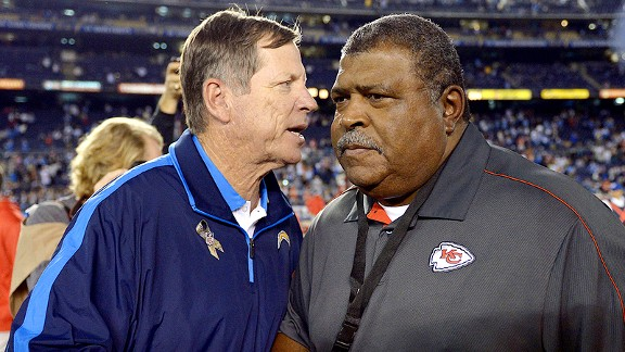 Norv Turner and Romeo Crennel