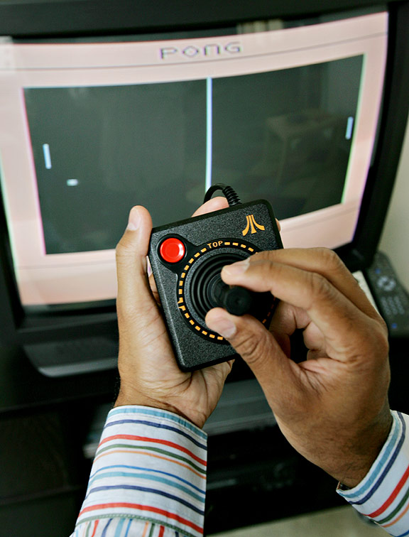 The famous Pong video game from Atari
