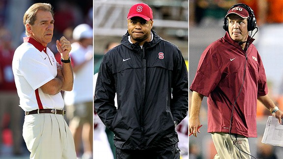 Nick Saban, David Shaw, Jimbo Fisher