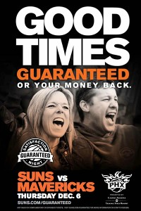 Suns to offer fans money back fun guarantee
