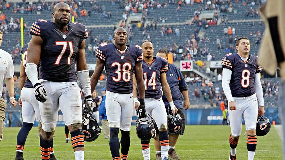 Chicago Bears after their loss to the Seattle Seahawks