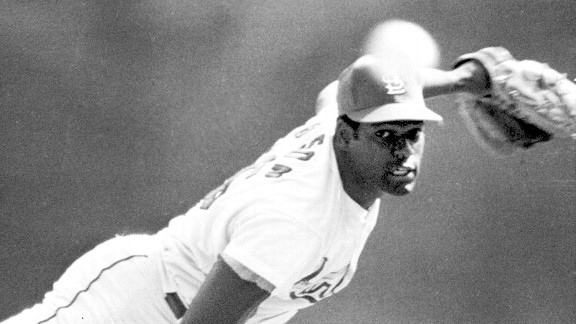 Bob Gibson with the St. Louis Cardinals in 1968