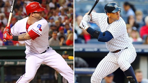 Mike Napoli, Alex Rodriguez