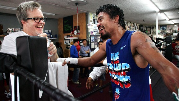 Freddie Roach says Manny Pacquiao will knock out Juan Manuel Marquez on Saturday: