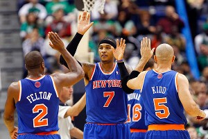 Raymond Felton, Carmelo Anthony and Jason Kidd