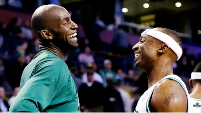 Kevin Garnett and Jason Terry