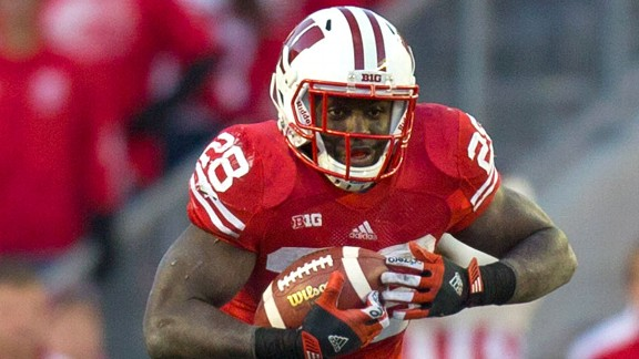 Montee Ball of the Wisconsin Badgers