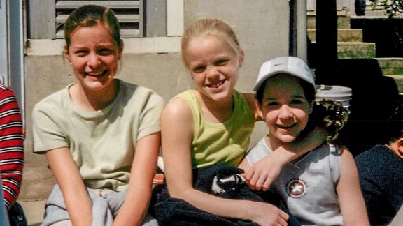Kelcey Harrison, center, and Jill Costello, right, were lifelong friends, seen here with Gianna Toboni on a grade school field trip.