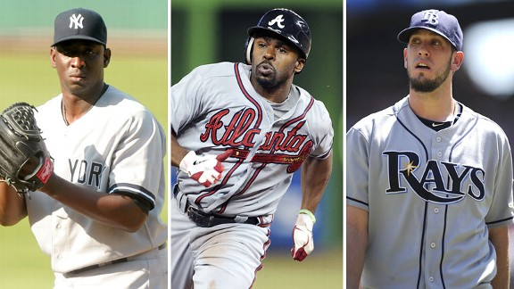 Rafael Soriano, Michael Bourn, James Shields
