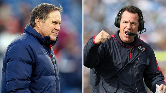 Bill Belichick and Gary Kubiak