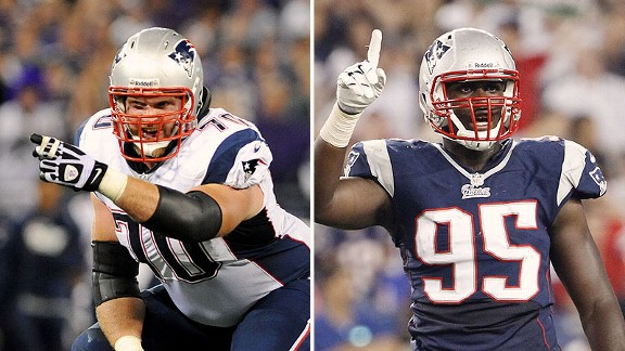 Logan Mankins and Chandler Jones