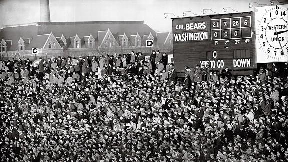 The Chicago-Washington 1940 NFL championship game