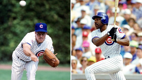 Greg Maddux and Andre Dawson with the Chicago Cubs