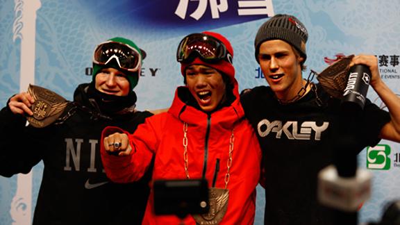 Peetu Piiroinen, Yuki Kadono and Stale Sandbech