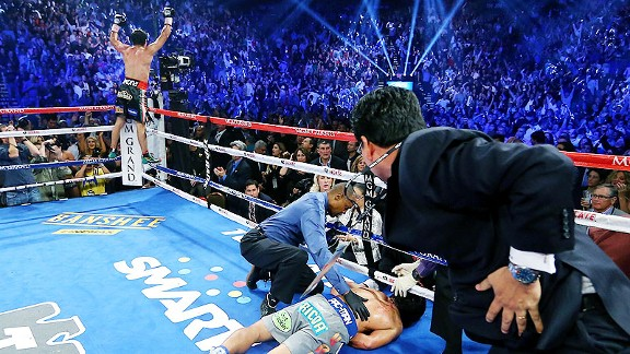 Juan Manuel Marquez and Manny Pacquiao in Las Vegas