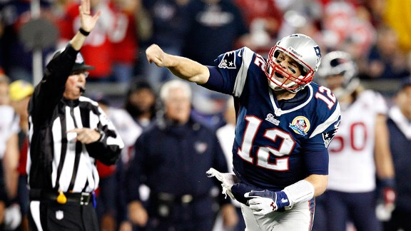 Tom Brady with the New England Patriots against the Houston Texans