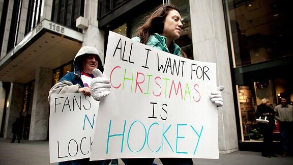 NHL Fans Protest