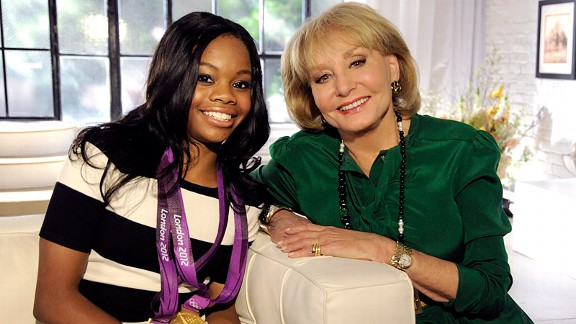 Gabby Douglas and Barbara Walters