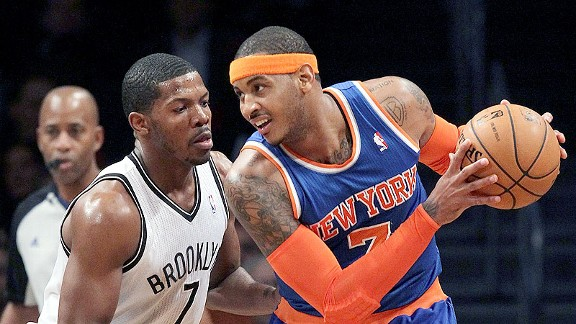 Joe Johnson and Carmelo Anthony