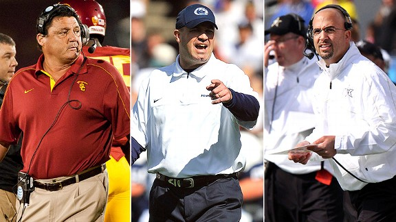 Ed Orgeron, Bill O'Brien, James Franklin