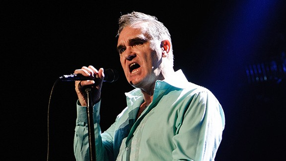Morrissey performing in New York City