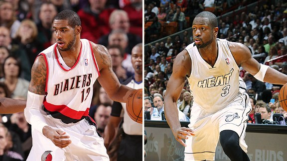 LaMarcus Aldridge and Dwyane Wade