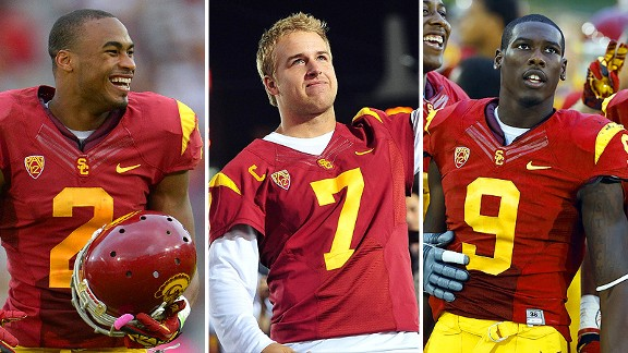 Robert Woods, Matt Barkley and Marqise Lee