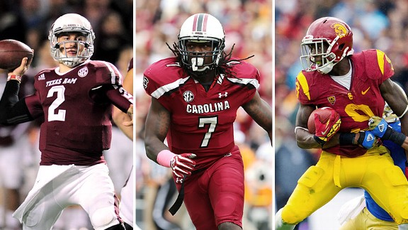 Johnny Manziel, Jadeveon Clowney, and Marqise Lee