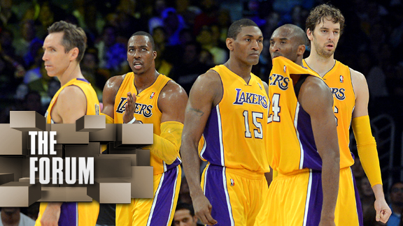 Steve Nash, Dwight Howard, Metta World Peace, Kobe Bryant, Pau Gasol