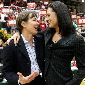 Tara VanDerveer and Jennifer Azzi