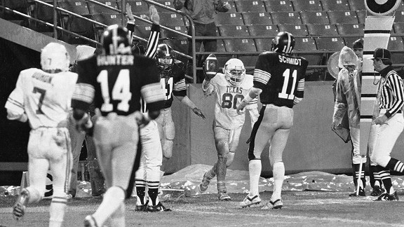 Freedom Bowl of 1984 between Texas and Iowa in Anaheim.