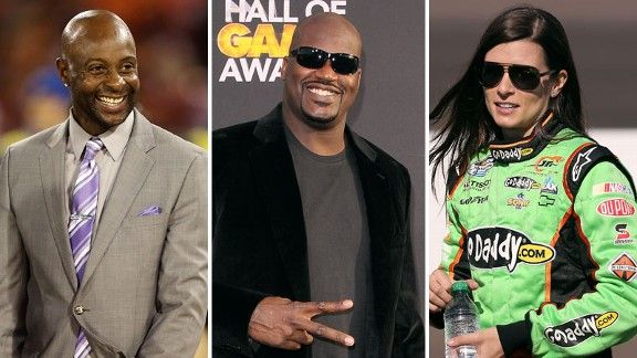 Jerry Rice, Shaquille O'Neal, Danica Patrick