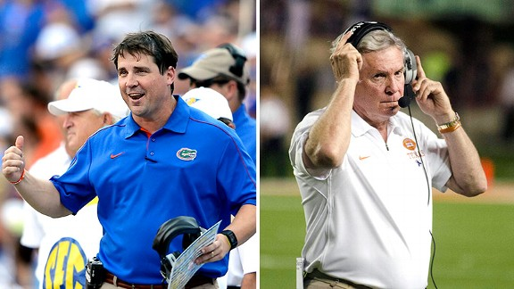 Will Muschamp, Mack Brown