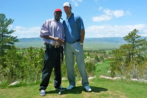 Tom Brandstater and Kenny McKinley golfing