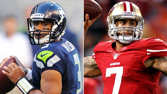 Russell Wilson and Colin Kaepernick