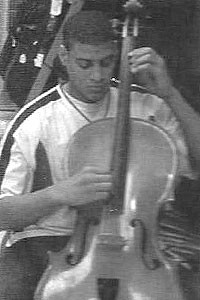 Austin Howard played cello in high school at Davenport Central in Iowa.