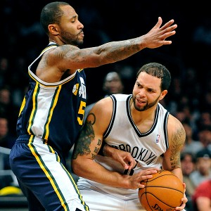 AP Photo/Kathy Kmonicek Deron Williams and the Nets dropped to 2-7 in
