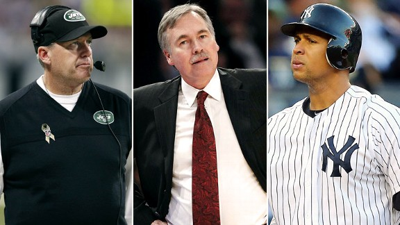 Rex Ryan, Mike D'Antoni, Alex Rodriguez