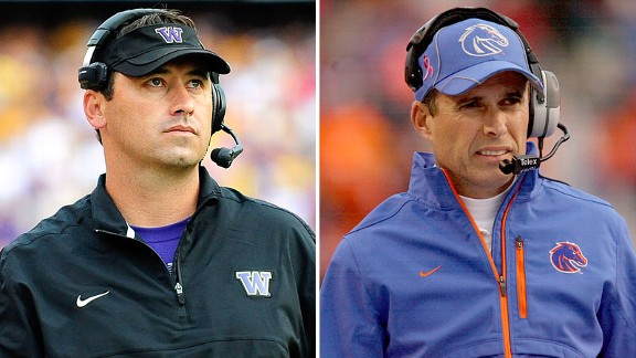 Steve Sarkisian and Chris Petersen